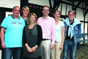v.l.n.r. Ingo Mülhoff, Gerlind Neukirchen, Cordula Wewers, Tim A. Küsters. Alexandra Evers, Hans-Georg Lindenlaub